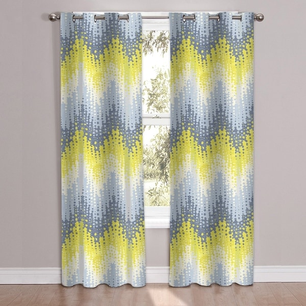 Shop Malibu Patterned Window Curtain Panel Pair 84 Quot X38