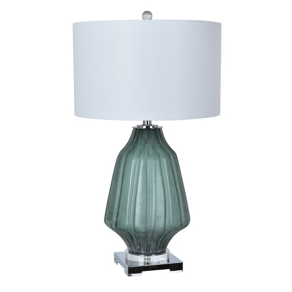 Dara Frosted Green 29.5-inch Table Lamp