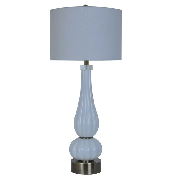 Atlantic Satin Nickel 38-inch Table Lamp