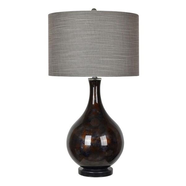 Adler Dark Grey Gl 33 5 Inch Table Lamp