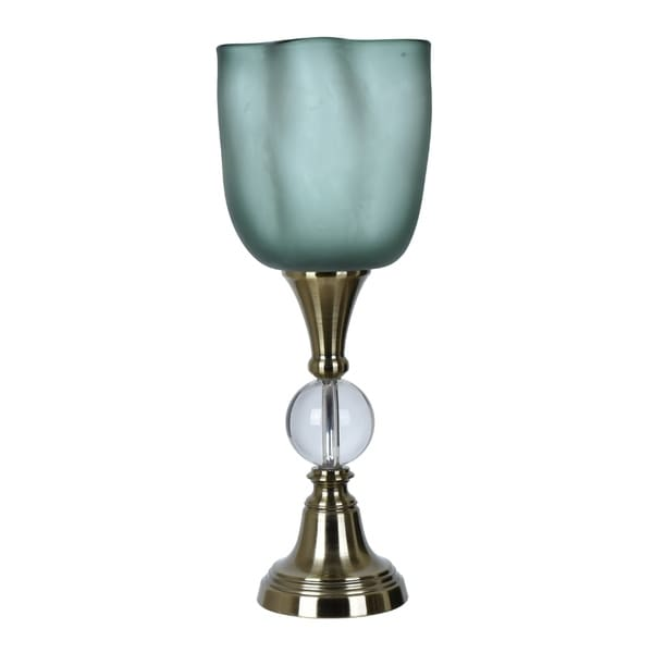 Glow Crystal and Antique Brass 24-inch Uplight Table Lamp