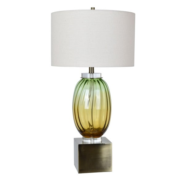 Carlyle Amber and Green 31.5-inch Table Lamp