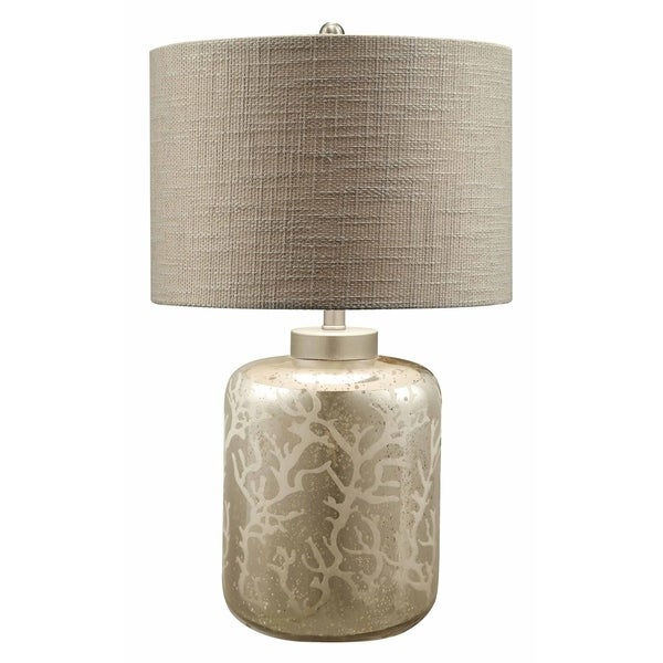 Crystal Coral Mercury 28-inch Table Lamp