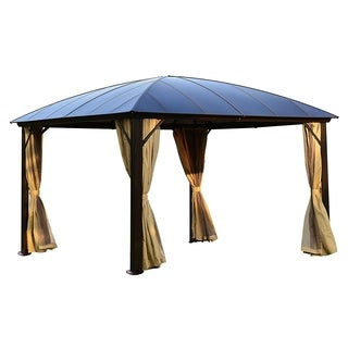 ALEKO Hardtop Gazebo with Removable Mesh Walls 12'x12'
