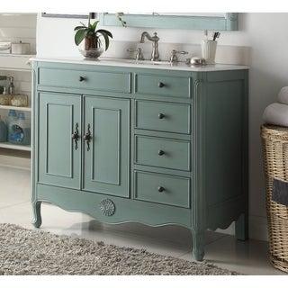 "Benton Collection Fayetteville Vintage Blue Bathroom Vanity & BS 38"""