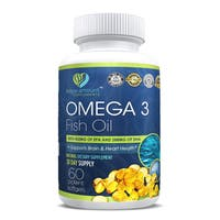 Bio Paramount Omega 3 Fish Oil for Joint Support & Memory Function (60 Vegetarian Capsules)