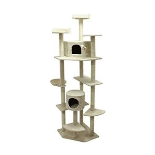 ALEKO Cat Tree Condo Scratching Post Cat Furniture 80 Inch Height