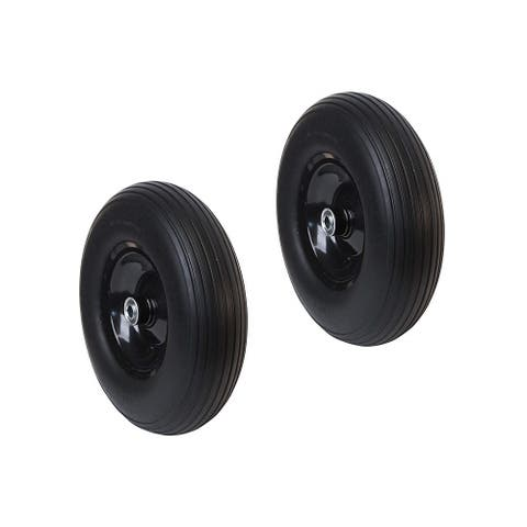 ALEKO Flat Free Replacement Wheels 13 Inch for Wheelbarrow Set of 2