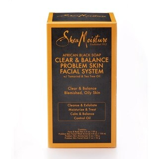Shea Moisture African Black Soap Facial Regimen Kit