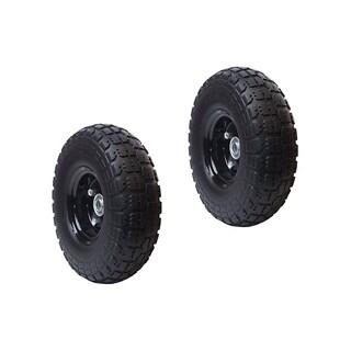 ALEKO Flat Free Replacement Wheels for Wheelbarrow 10 Inch Set of 2
