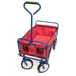 ALEKO Multipurpose Folding Utility Wagon With Handle 150 Lb Capacity