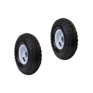 ALEKO Air Filled Pneumatic Replacement 10 inch Wheels Set of 2