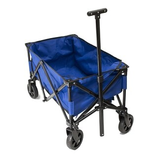 ALEKO Multipurpose Folding Utility Wagon 150 Lb Capacity With Handle