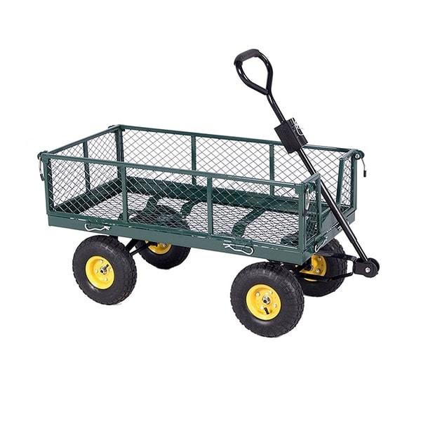 ALEKO Garden Farm and Ranch Removable Steel Mesh Sides Cart