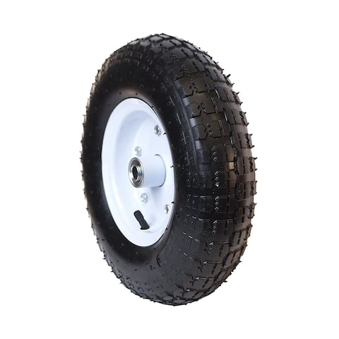 ALEKO Smooth Pneumatic Air Filled Turf Tire Replacement Wheel 13 Inch