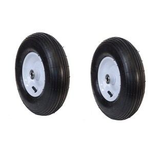 ALEKO Ribbed Pneumatic Air Filled Replacement Wheels 13 Inch Set of 2