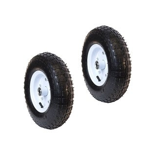 ALEKO Pneumatic Air Filled Turf Tire Replacement 13in Wheels Set of 2