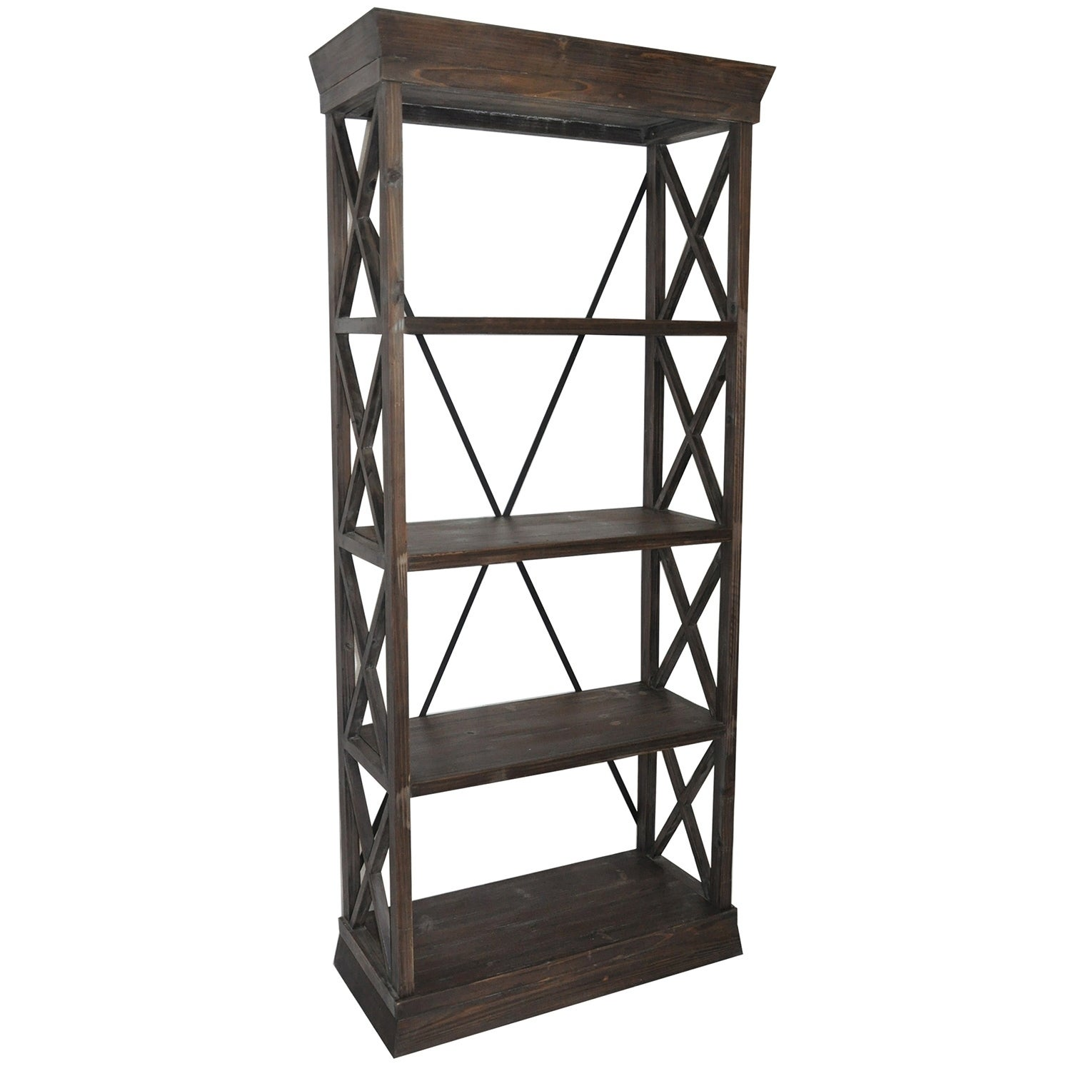 Grand Junction Brown Mango Wood Bookcase