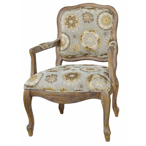 Shop Hillcrest Rustic Frame And Pattern Accent Chair