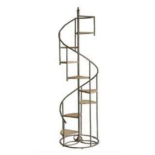 Darby Metal and Wood Display Spiral Staircase