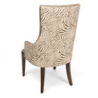Safari Light Grey Two Toned Channel Back Accent Chair
