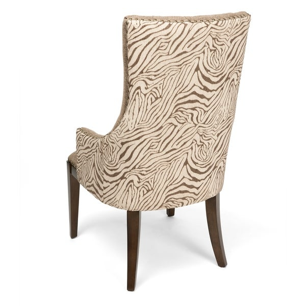 Light Grey Accent Chair: Shop Safari Light Grey Two Toned Channel Back Accent Chair
