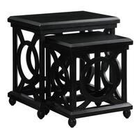Walden Distressed Black Nesting Tables (Set of 2)