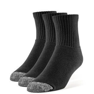 Galiva Women's Cotton Extra Soft Quarter Cushion Socks - 3 Pairs