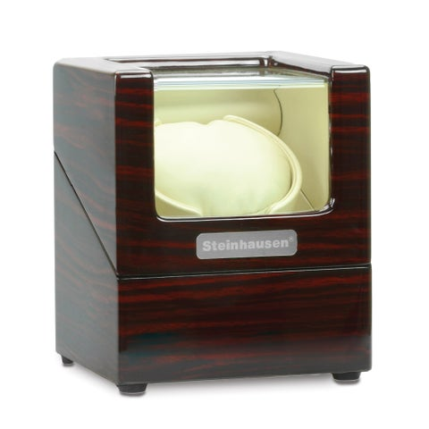 Steinhausen Heritage Single Watch Winder With Ultra Quiet Motor and Multiple Modes/ Cherrywood