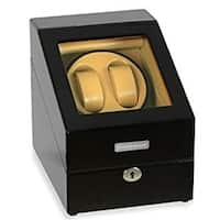 Steinhausen Heritage Double Watch Winder With Storage For 3 Watches, Ultra Quiet Motor and Multiple Modes/ Onyx