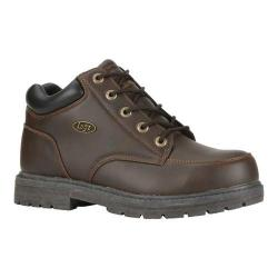 Men's Lugz Wallop Mid Work Boot Brown/Dark Brown Synthetic