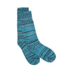 Pendleton Marl Striped Sock Turquoise