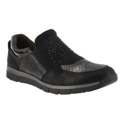 Women's Spring Step Hollywood Slip On Sneaker Black Synthetic Leather