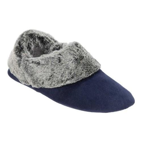 fca9ca16d31e Shop Women s Dearfoams Bootie Slipper with Frosted Pile Peacoat - Free  Shipping On Orders Over  45 - Overstock - 18123337