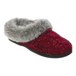 Women's Dearfoams Cable Knit Clog with Space-Dye Cabernet