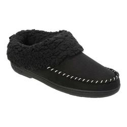 Women's Dearfoams Clog Slipper with Whipstitch Black