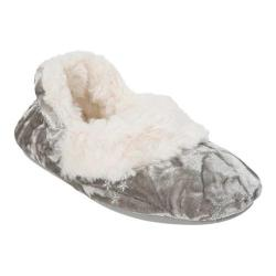 Girls' Dearfoams Crushed Bootie Slipper Sleet
