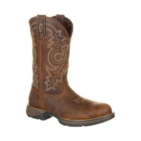 Men's Durango Boot DDB0133 Steel Toe Waterproof 12in Work Western Boot Coyote Brown Full Grain Leather