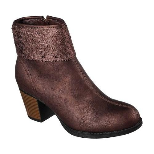 9fd5375de7 Shop Women s Skechers Taxi Starlet Ankle Boot Bronze - Free Shipping Today  - Overstock - 18123755
