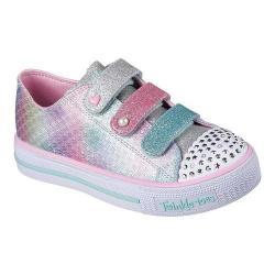 Girls' Skechers Twinkle Toes Shuffles Ms. Mermaid Sneaker Silver/Multi