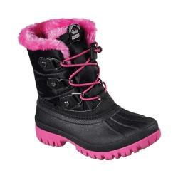 Girls' Skechers Windom Cool Weather Boot Black/Hot Pink