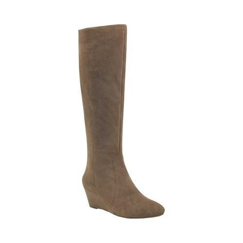 cbbe15bda6cf Shop Women s Anne Klein Azriel Knee High Wege Boot Taupe Suede - Free  Shipping Today - Overstock - 18116319
