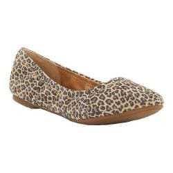 Women's Lucky Brand Emmie Flat Sesame Leather