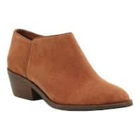 Women's Lucky Brand Faithly Bootie Toffee Oiled Suede