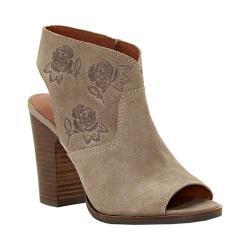 Women's Lucky Brand Listana Block Heel Sandal Brindle Suede/Leather