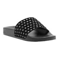 Women's Lucky Brand Piyaa Slide Black Suede/Leather