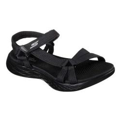 Women's Skechers On the GO 600 Brilliancy Ankle Strap Sandal Black/Black (5 options available)
