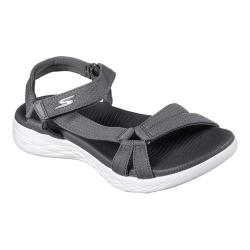 Women's Skechers On the GO 600 Brilliancy Ankle Strap Sandal Charcoal