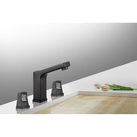 8 in. Widespread 2-Handle Bathroom Faucet with Push Down Pop-Up Drain in OIl Rubbed Black