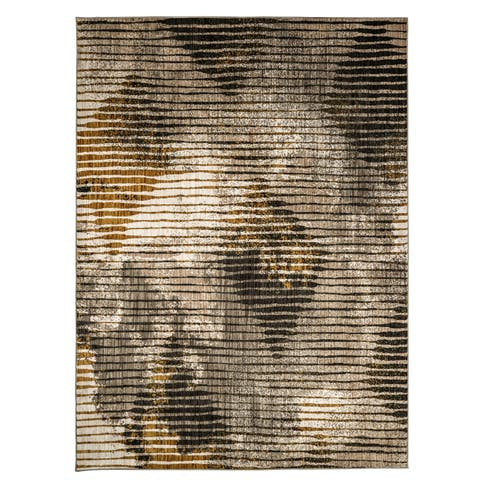 Furniture of America Evie Contemporary Recycled Beige Rug - 5'3 x 7'6